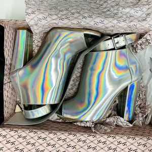 Victoria's Secret Holographic Bootie Heels size 6